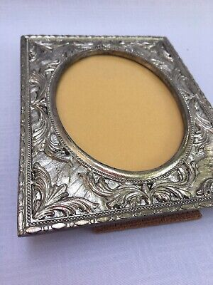 Vintage Victorian Style Silver Plate PICTURE  FRAME by Fetco Antique Detail Look