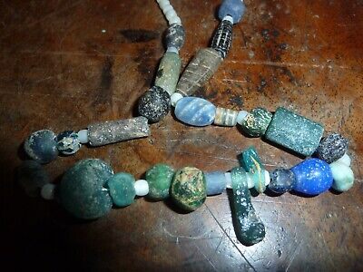 Lovely necklace made from beads and glass from antiquity