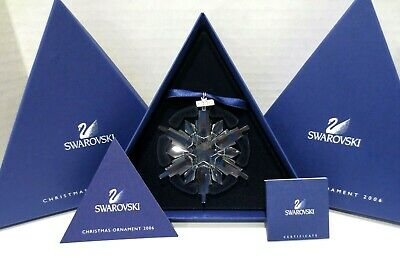 2006 SWAROVSKI Christmas Ornament Snowflake Annual Ltd Ed Crystal w/ COA Box B