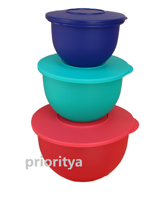 Tupperware Impressions Classic Mixing Bowl Set of 3 New in Package