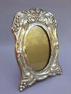 Vintage Victorian Style Silver Plate PICTURE  FRAME by The Bucklers Antique Look