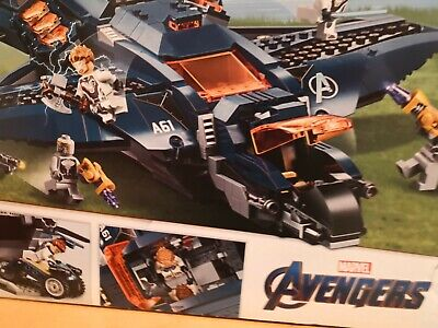 LEGO 76126 Marvel Avengers Ultimate Movie Quinjet Plane Super Heroes Playset