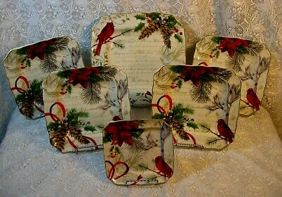 222 Fifth Holiday Wishes 1 Appetizer, 4 Salad & 1 Dinner Plates