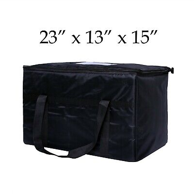 """New Excellent Insulated Food Delivery Bag, Pan Carrier Black Nylon ,23""""x13""""x15"""""""