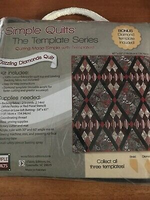 Simple Quilts Template Series Dazzling Diamonds Quilt Kit