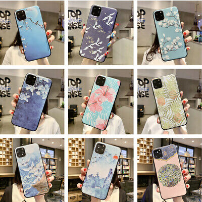 For Apple iPhone 11 Pro MAX XS XR 8 7 Plus Matte Floral Soft Silicone Case Cover