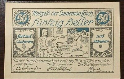 Notgeld Austrian anti semitic 30, 50 and 80 Heller (Set of 3) Historic, #2 set