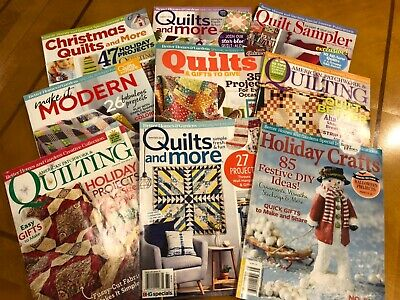LOT 9 better Homes and Gardens Quilting Magazines $120 value