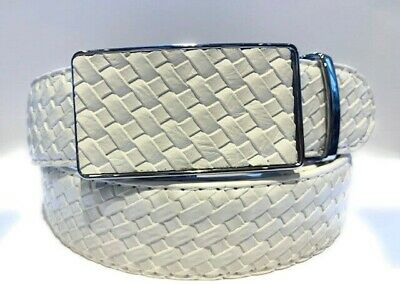 Womens Designer Belts New White Checked Leather Automatic Belt For Women Ladies