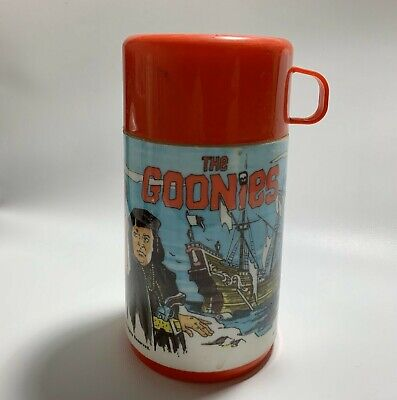 THE GOONIES 1985 movie VINTAGE ALADDIN plastic THERMOS with cup and twist cap