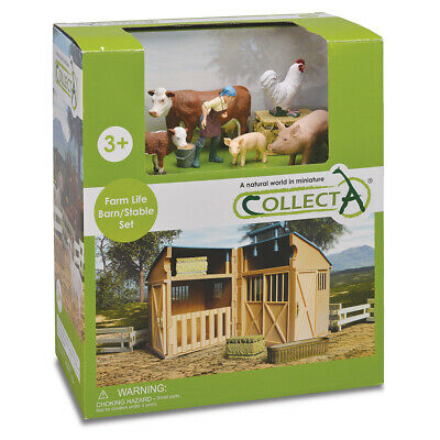 NEW CollectA Barn/Stable Set 12pce
