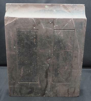 Antique Architectural Plinth Carved Slate Pediment House Door Window