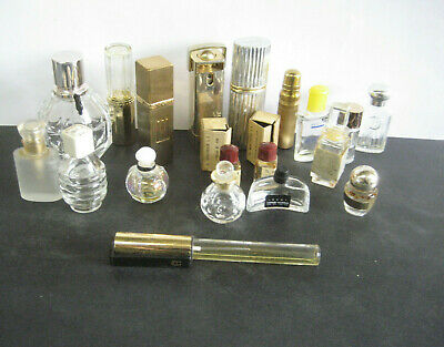 Exciting collection of 19 Vintage Perfume Bottles Dior Caron Victor&Rolf Laroche