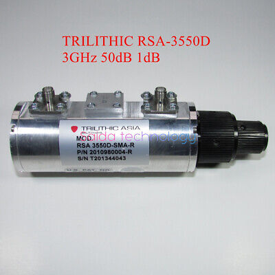 1×TRILITHIC RSA 3550D-SMA-R 3GHz 0-50dB 2W RF Adjustable Step Attenuator