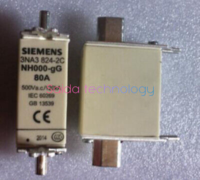 SIEMENS Fuse 3NA3 824-2C 80A AC500/DC440 21mm Low voltage fuse