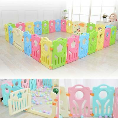 10+2 Panel Large Foldable Plastic Baby Mixed Color PlayPen & Education Functions