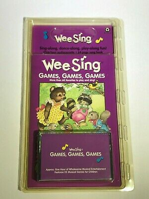 Wee Sing Games, Games, Games Book & Cassette Tape Music Classroom Homeschool NEW
