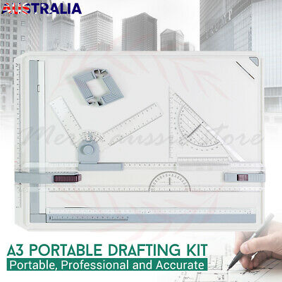 Adjustable A3 Drawing Board Table Tool Kits With Parallel Motion&Angle Drafting