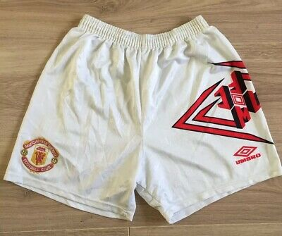 Manchester United Football Shorts Original Umbro Home Kit 1992 1993 1994