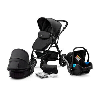 Kinderkraft Pram 3in1 Set MOOV Travel System Baby Pushchair Buggy Foldable Black
