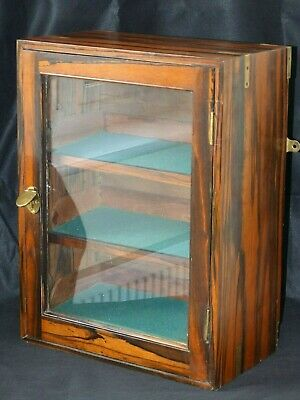 RARE Antique Victorian Coromandel Three Shelved Display Wall Cabinet – Campaign?