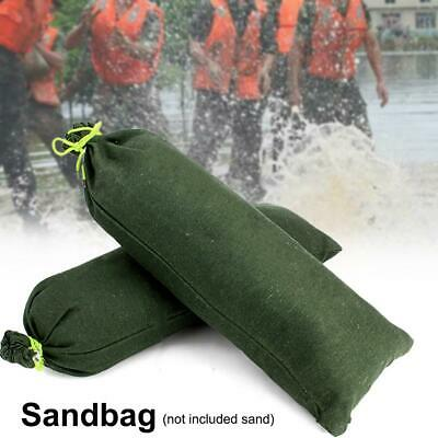Canvas Sandbags Drawstring Sand Bags Flood Water Prevention Protection Defence