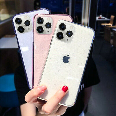 Shockproof Shiny Transparent Silicone Case For iPhone 11 Pro Max XR X 8 7 6 Plus