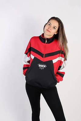 Vintage Model Tracksuits Top Shell Sportswear Casual Retro UK L Red - SW2334