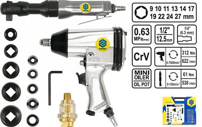 Vorel Impact Wrench + Ratchet Wrench Kit