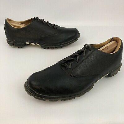 Adidas Adipure Leather Puremotion Technology Mens Sz 11 Black Golf Cleats Shoes
