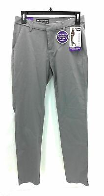 Lee Womens Pants Gray Midrise Tapered Ankle Slimming Stretch Size 2M