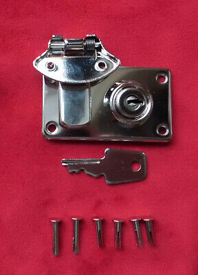Cheney Type Lock/Latch-NICKEL- for Fender Strat/Tele/Bass cases-with rivet set