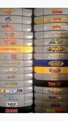 Custom Made Top/Spine Labels For N64 Game Cartridges. Pick Up To 40 Labels.