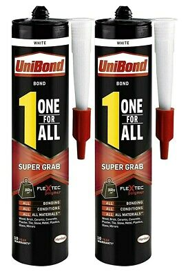 2 Pcs Unibond 1 One For All Super Grab Bond Sealant Household White Adhesive
