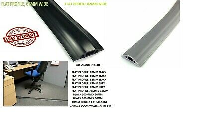 Black & GREY Heavy Duty RUBBER Cable Tidy Trunking Floor Protector multi list*
