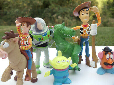 Disney Toy Story mini pvc figures Woody Bullseye Potato Head Alien Rex Buzz Ligh