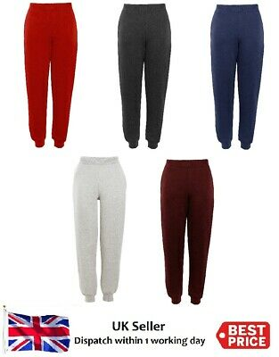 Kids Boys Girls Sports Jogging Joggers Bottom Fleece Trouser Sweat Pants  2-13