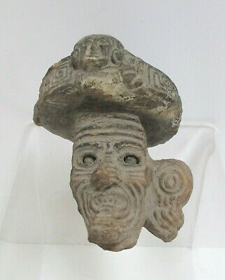 Pre-Columbian Pottery Maya Brazier Head Decoration