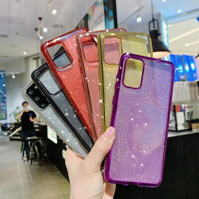For Samsung Galaxy A50 A70 Note 10+ S9 Diamond Plating Bling Soft TPU Case Cover