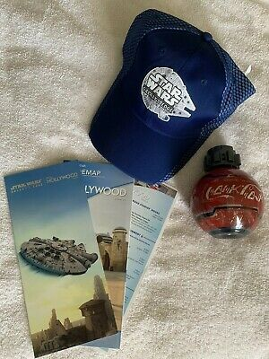 2019 Disney Parks Star Wars Galaxy's Edge Opening Day Cast Hat With Maps & Coke