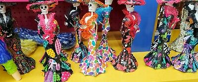 Catrina Mexican Doll Day of Dead Paper Mache Dia de los Muertos Halloween SM
