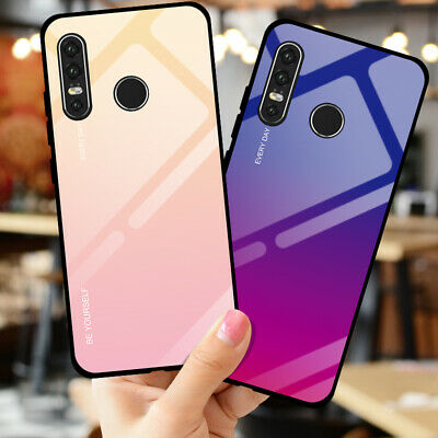 Gradient Tempered Glass Phone Case For Huawei Honor 10 Y5 Y6 Y7 Y9 2019 P30 PRO