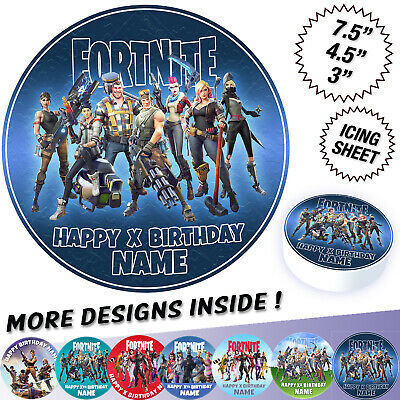 Fortnite Cake Topper Personalised Printed on Icing