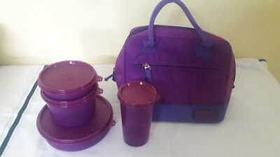 Tupperware New Classic Lunch with Bag- 4pc set- Purple- New