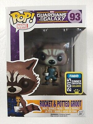 Funko POP Guardians Of The Galaxy Rocket & Potted Groot #93 2015 Summer Con Excl