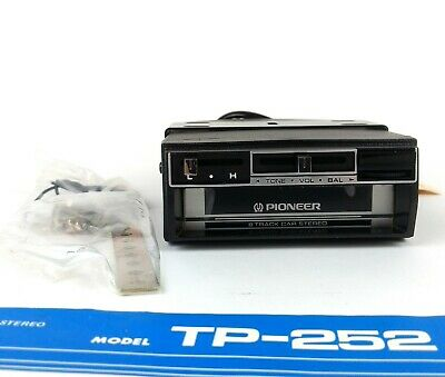 Pioneer TP-252 8 Track Car Stereo (Open Box, Appears Unused)