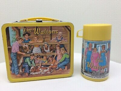 Vintage The Waltons Lunch Box & Thermos 1973 Good Condition