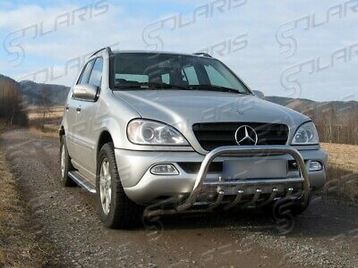 Mercedes ML 2002-2005 | PARE BUFFLE PROTECTION AVANT EN INOX