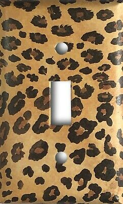 Cheetah Design Decorative Single Toggle Light Switch Cover Wall Plate