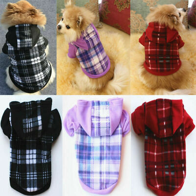 Pet Dog Hoodie Warm Winter Coat Sweater Clothes Puppy Cat Jacket Costume Jumper